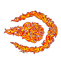 fire flame stickers design vector image