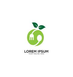 Fresh food logo template vector