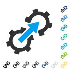 gear integration icon vector image