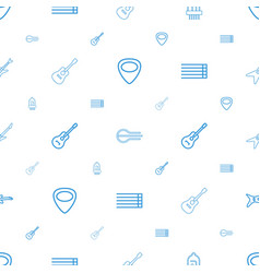 Guitar icons pattern seamless white background vector