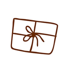 Hand Drawn Parcel vector image