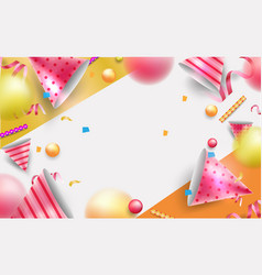Happy birth day background or banner eps10 vector