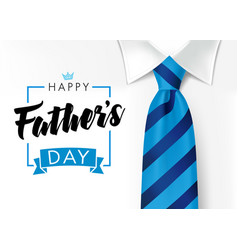 happy fathers day blue necktie and mens suit vector image