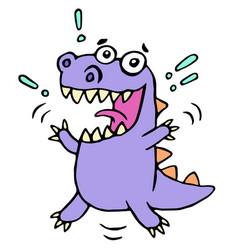 happy greeting purple dragon vector image