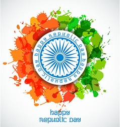Happy Indian Republic Day celebration concept with vector