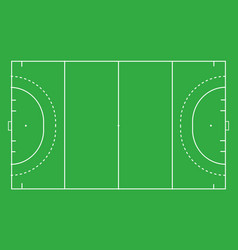 Hockey field top view vector