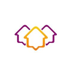 Housing line icon rorealty logo vector