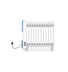 icon of oil radiator isolated on horizontal white vector image