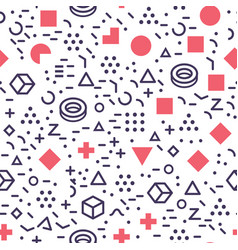 isolated geometric shapes seamless pattern vector image