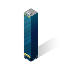 isometric skyscraper icon vector image