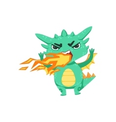 Little Anime Style Baby Dragon Pissed Off vector