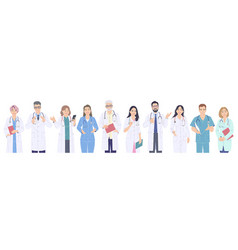 Medical workers male and female characters vector