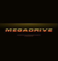 megadrive bold italic font with dynamic slant vector image