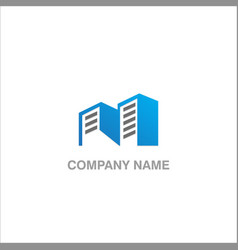 modern building realty company logo vector image