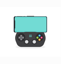 modern smartphone connected with gamepad isolated vector image