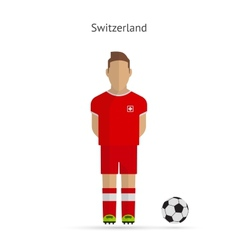 National football player Switzerland soccer team vector image
