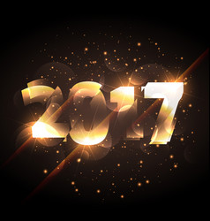 New year 2017 glowing lettering with shiny effect vector
