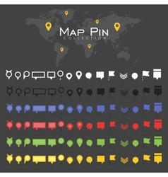 pin map icon mark symbol location colorful vector image