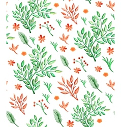 plants seamless pattern vector image