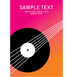 Poster music vector