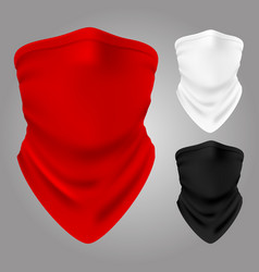 realistic textile balaclavas of collection vector image