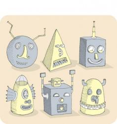 Robotheads vector