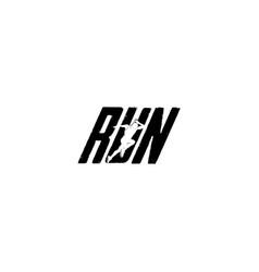 run typo logo vector image