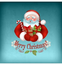 Santa Claus carrying Gifts vector image