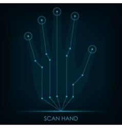 Scan Hand vector