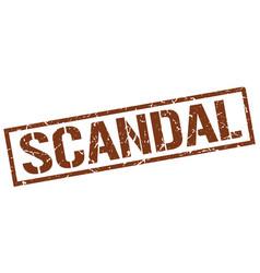 Scandal stamp vector