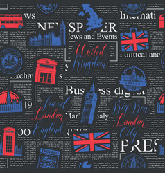 seamless pattern on theme uk and london vector image