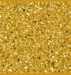 Seamless yellow gold glitter texture made vector