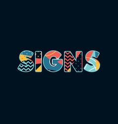 signs concept word art vector image