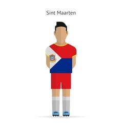Sint Maarten football player Soccer uniform vector