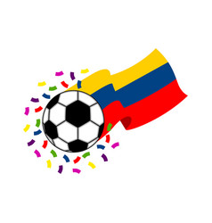 soccer ball with the flag of colombia vector image