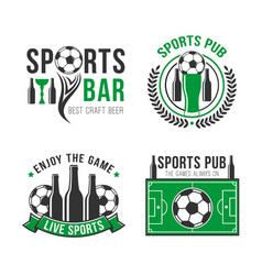 Soccer or football sports bar icon vector