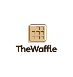 Square waffle logo icon vector