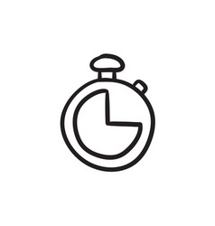 stopwatch sketch icon vector image