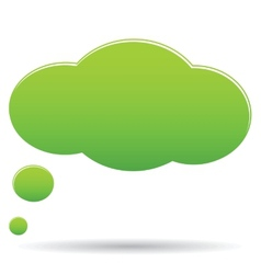 Thought cloud bubble vector image