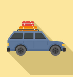 Travel car icon flat style vector