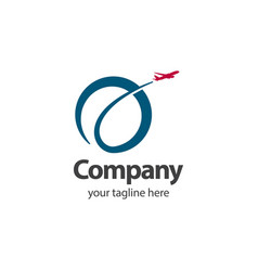 Travel company logo template design vector