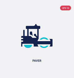 two color paver icon from construction concept vector image
