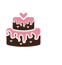wedding cake icon design template isolated vector image