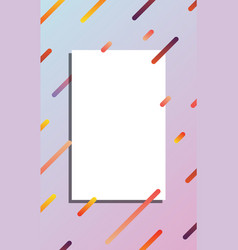 white card on abstract colorful background mockup vector image