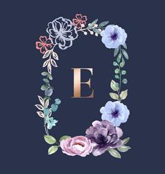 Wreath icon for creative artwork soft watercolour vector