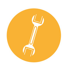 Wrench mechanic tool icon vector