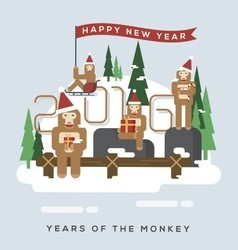 Years of the monkey vector image