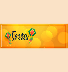 Yellow elegant festa junina banner design vector
