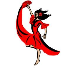 flamenco vector image