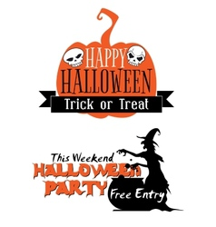 Halloween holiday invitation vector image vector image